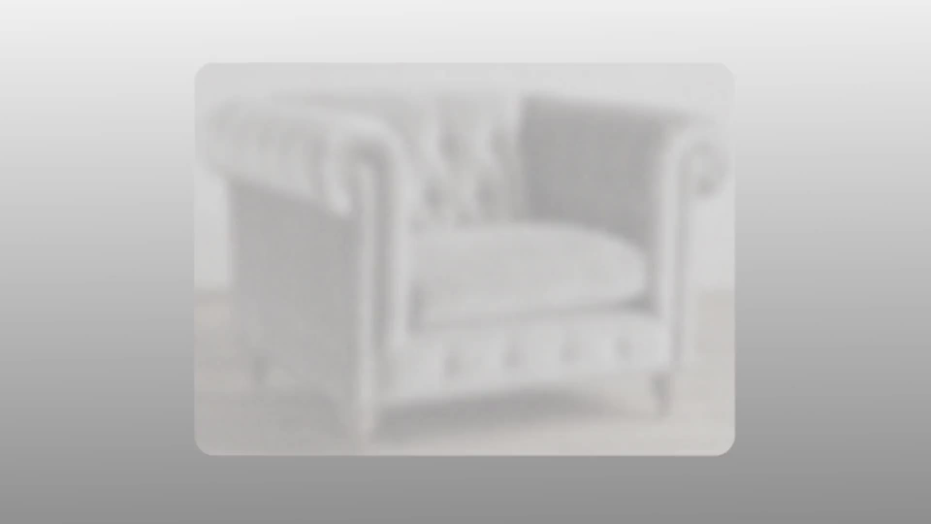 Nút Luxury Chần Sợi Vòng Sofa Nhung Đồ Nội Thất Cổ Sofa Phòng Khách 3 Chỗ Ngồi Chesterfield Nhung Sofa Set