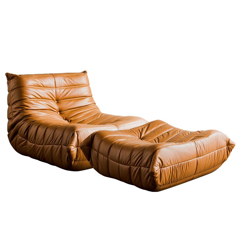 北欧轻奢客厅懒人皮沙发家用躺椅质量怎么样