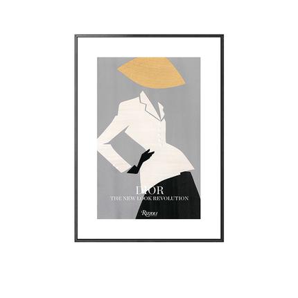 创意时尚人物插画单幅摆件背景墙画