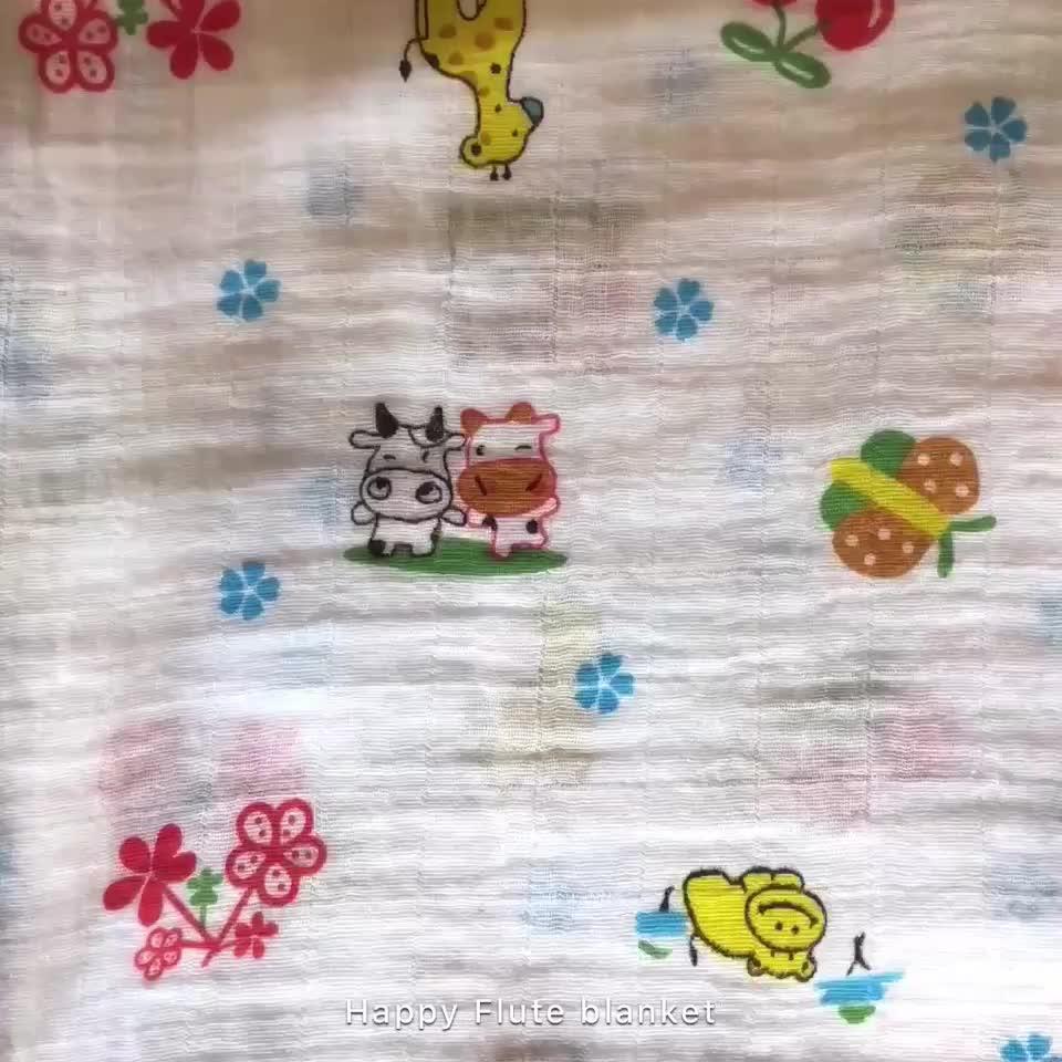 アマゾン熱い販売カスタムデザイン綿モスリンおくるみブランケット赤ちゃんラップ120*120センチ
