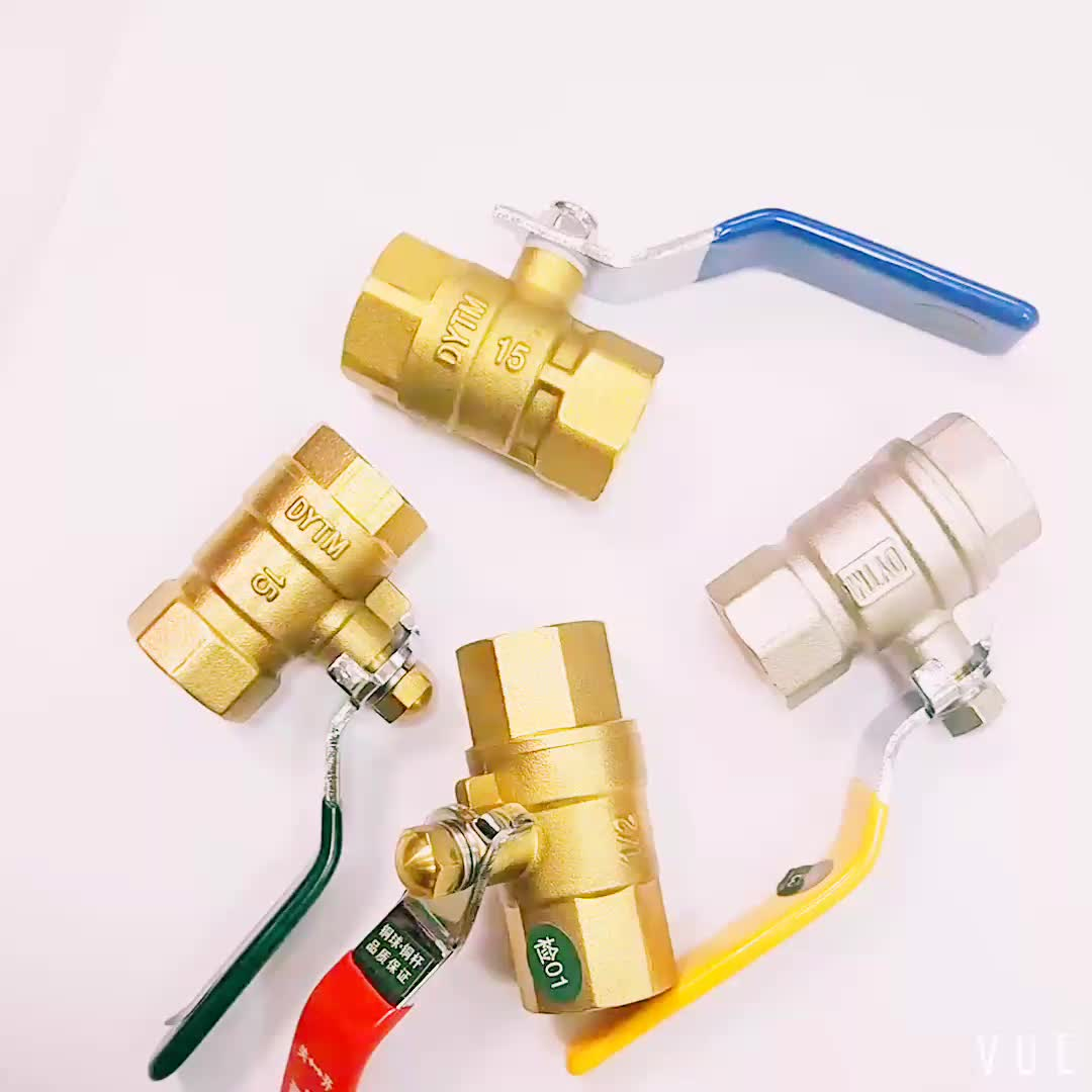 CW617N Full Port Brass Ball Valve DN20 With Lever Butterfly Handle