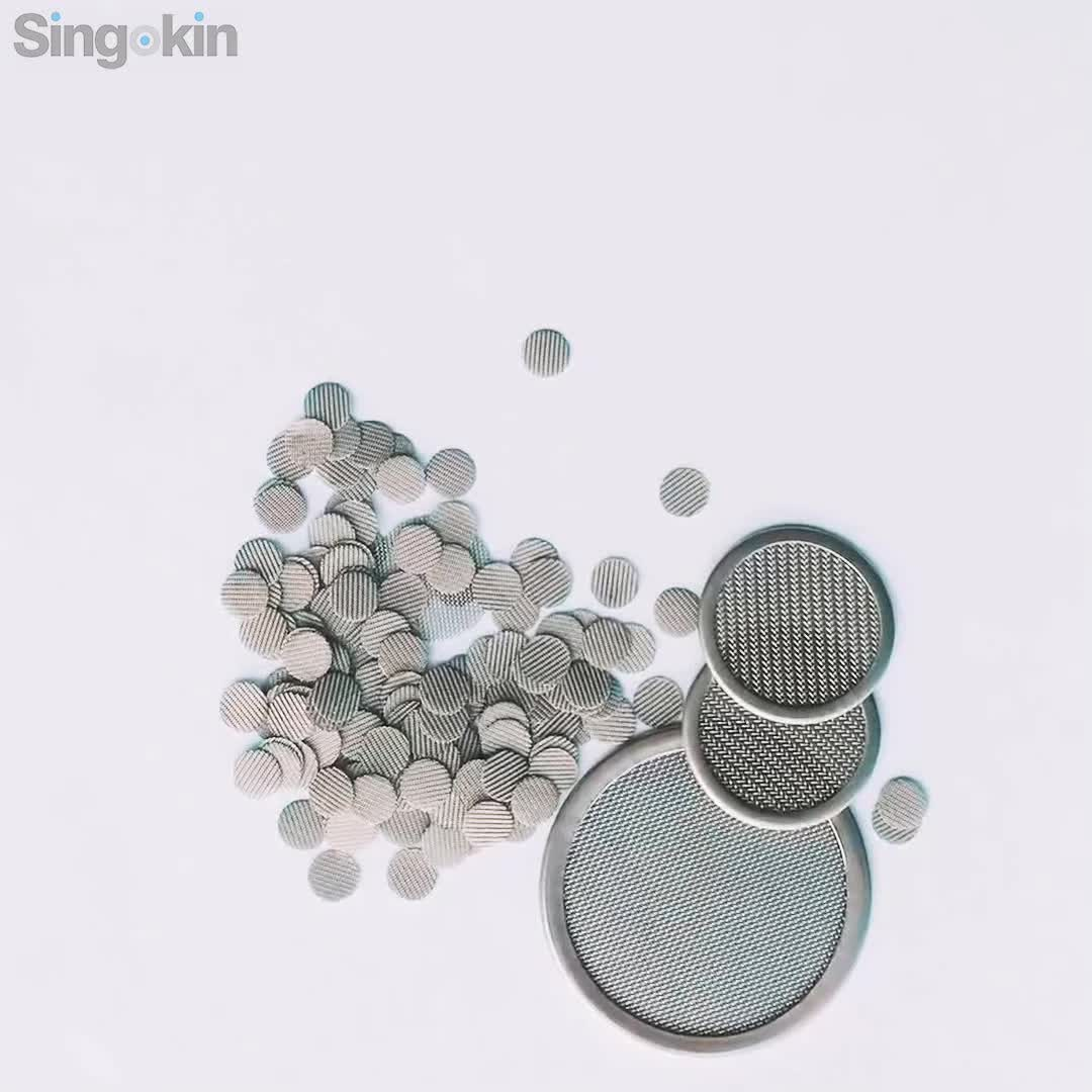 Eco-friendly 60 Mesh 15mm Stainless Steel Smoking Pipe Screen Micron Filter Mesh for sale