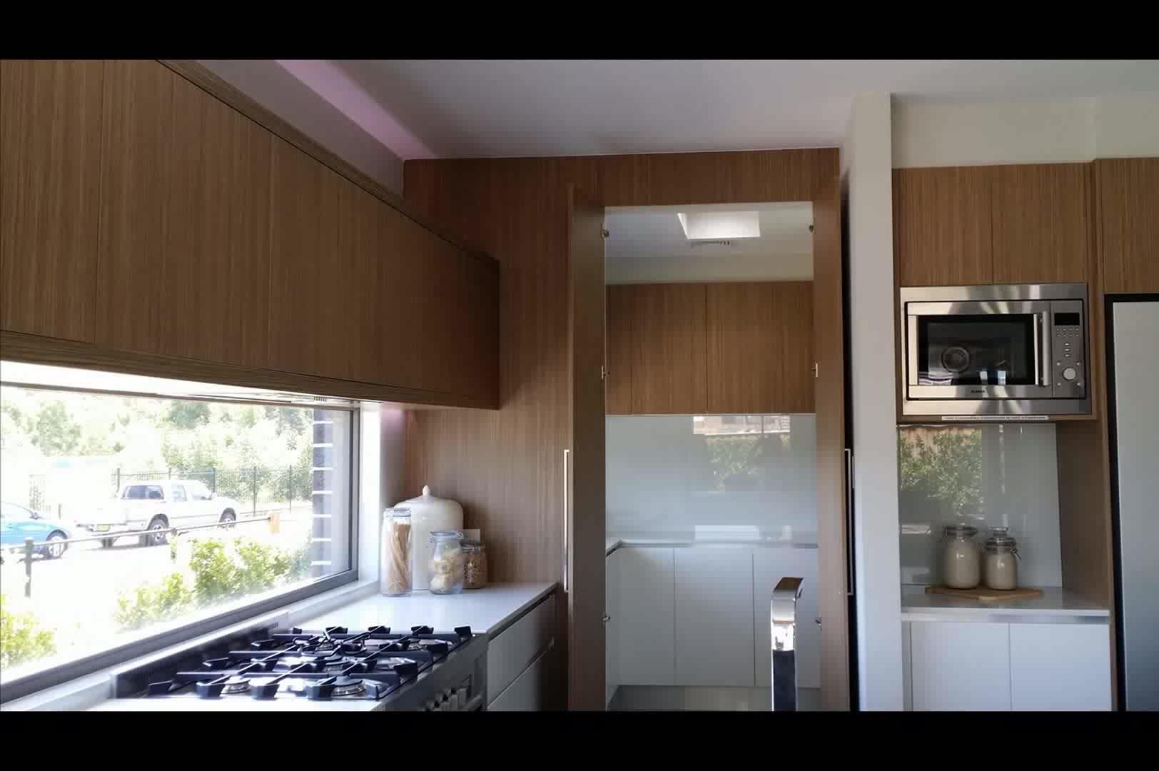 White Gloss Laminated Kitchen Cabinet Doors Melamine Faced Mdf