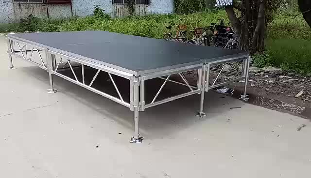 4*4ft Aluminum portable assemble stage materials used for events/concerts/fashion show