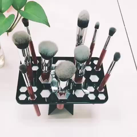 Yaeshii Women'S Fashion Brand 10 Champagne Makeup Brush Set, Makeup Brush