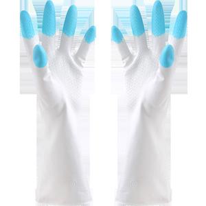 家务洗衣服胶皮加厚防水塑胶手套
