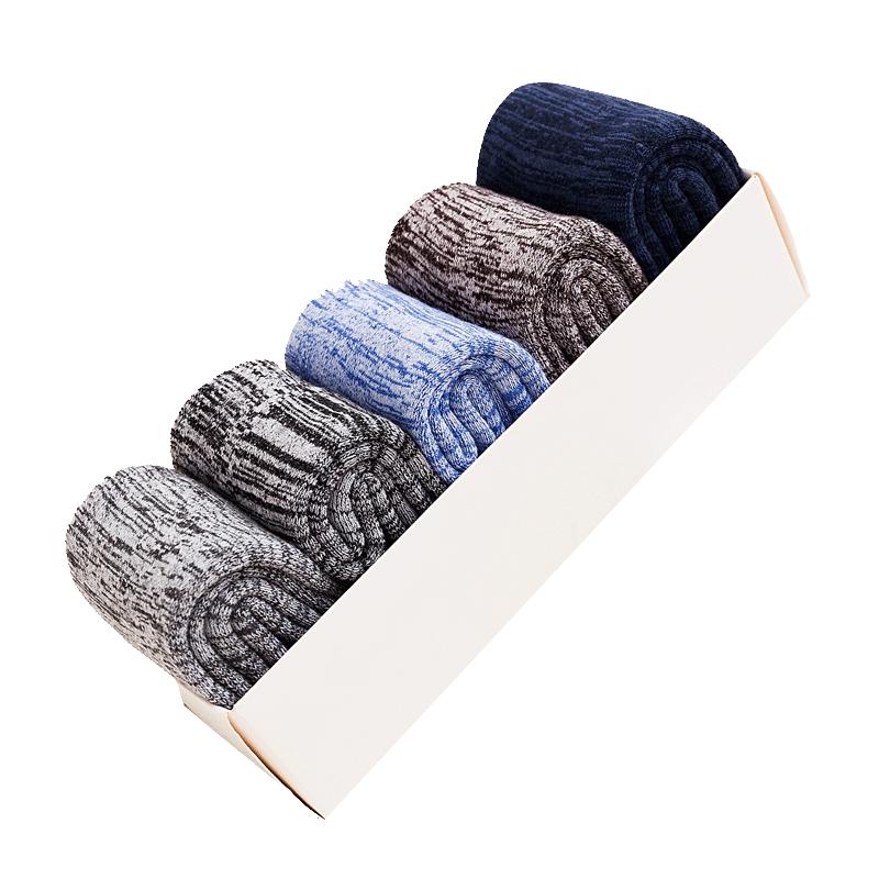 冬季加厚款袜子男袜加绒保暖中筒长袜毛圈袜羊毛巾袜冬天防臭