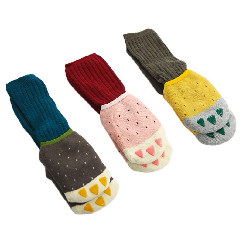 宝宝袜子加厚防滑地板袜婴儿袜子秋冬纯棉保暖长筒袜儿童中筒袜子