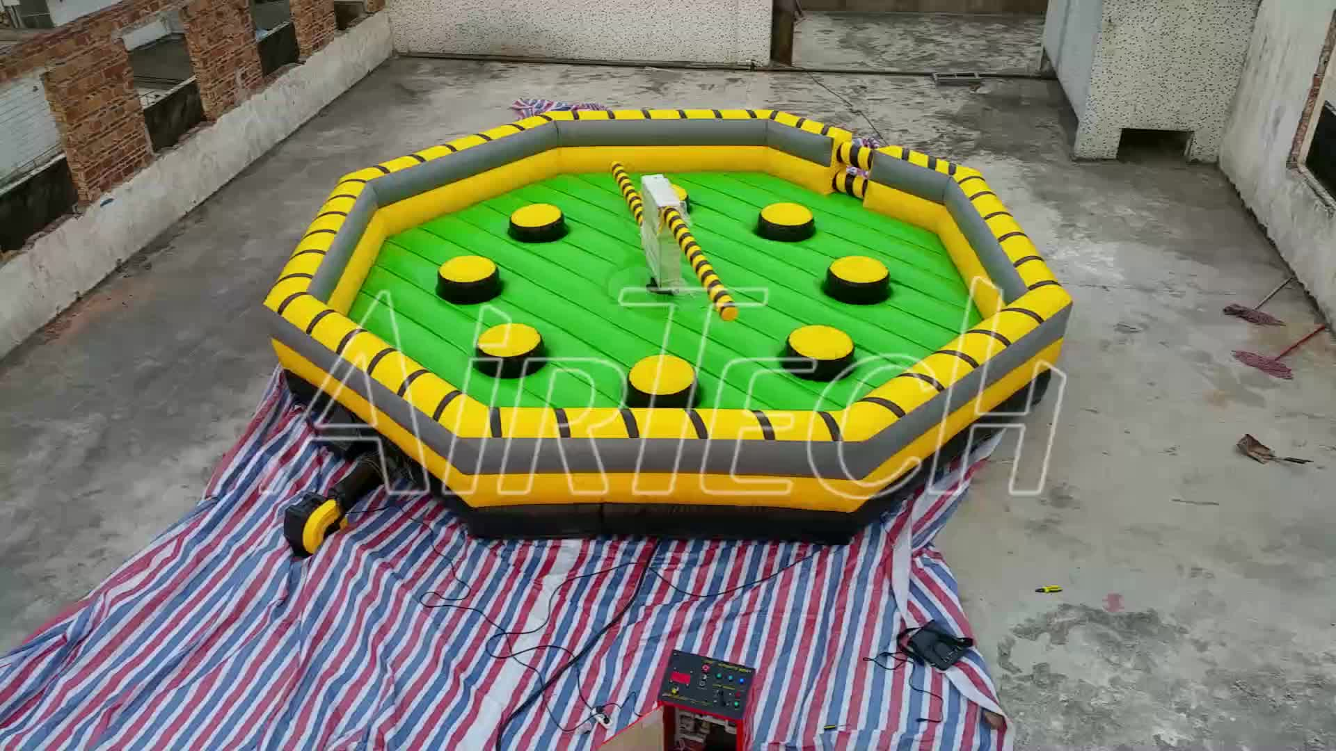 Hot game inflatable meltdown sale, inflatable wipeout course for sale, mechanical meltdown
