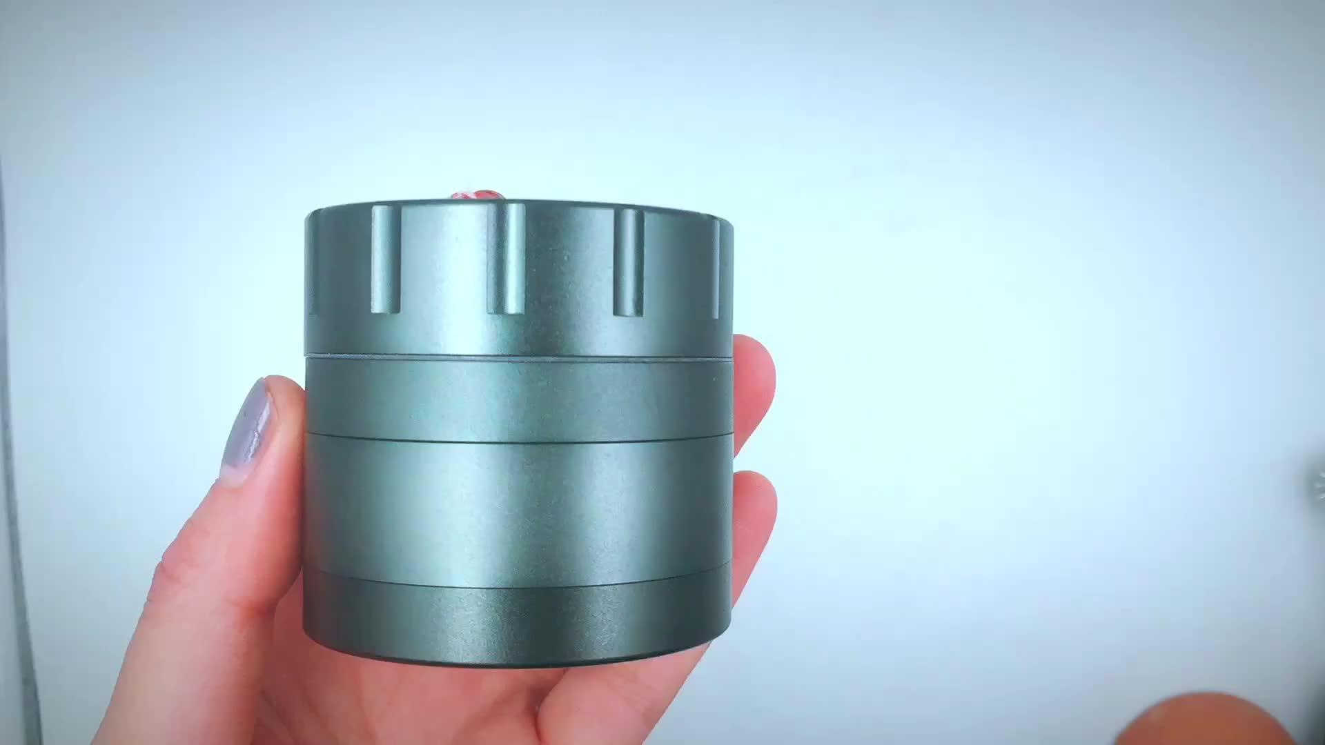 T077GA Lvhe Online Wholesale Shop Aluminum 2.5'' '4 Piece Herb Grinder.