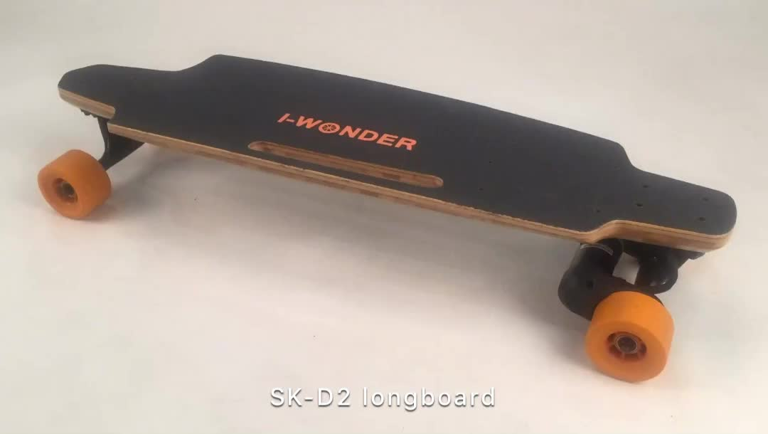 [Retail]I-Wonder SK-D2 Dual Motor Brushless 1200W*2 DC Wireless Remote Control Electric Longboard
