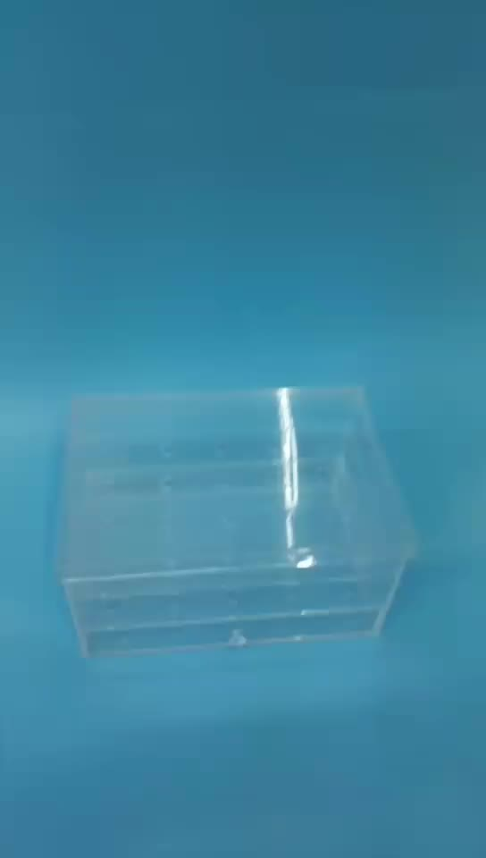 Clear Acrylic Rose Flower Container Storage Box with Cover