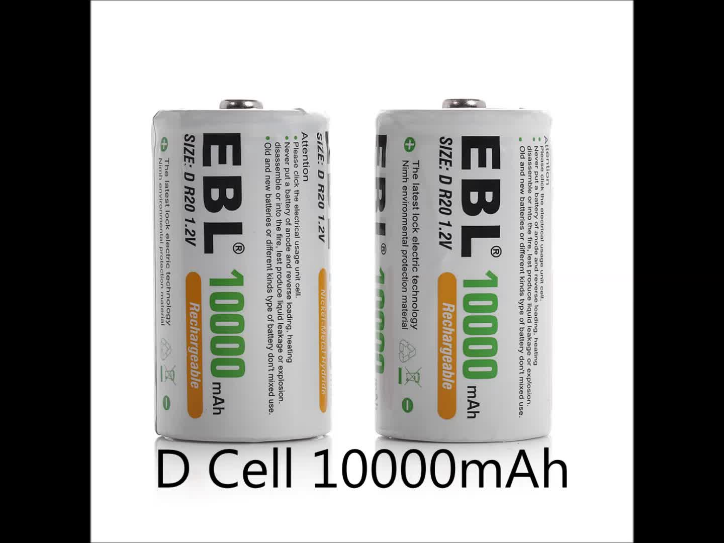 EBL Universal Battery Charger LCD for AA AAA 9V D Cell C Cell Rechargeable Battery