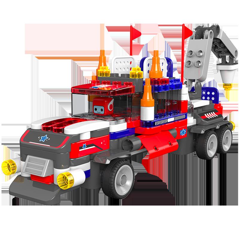 布鲁可大颗粒积木车拼插重型卡车