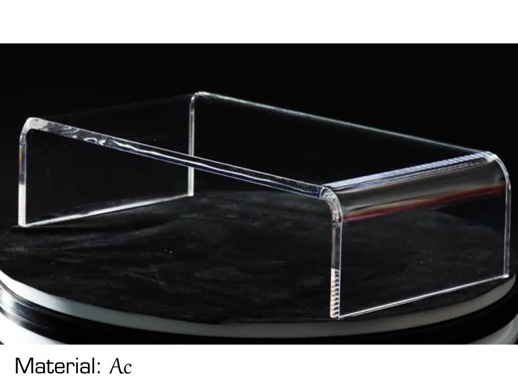 Special customized good quality clear acrylic computer monitor stand for desk