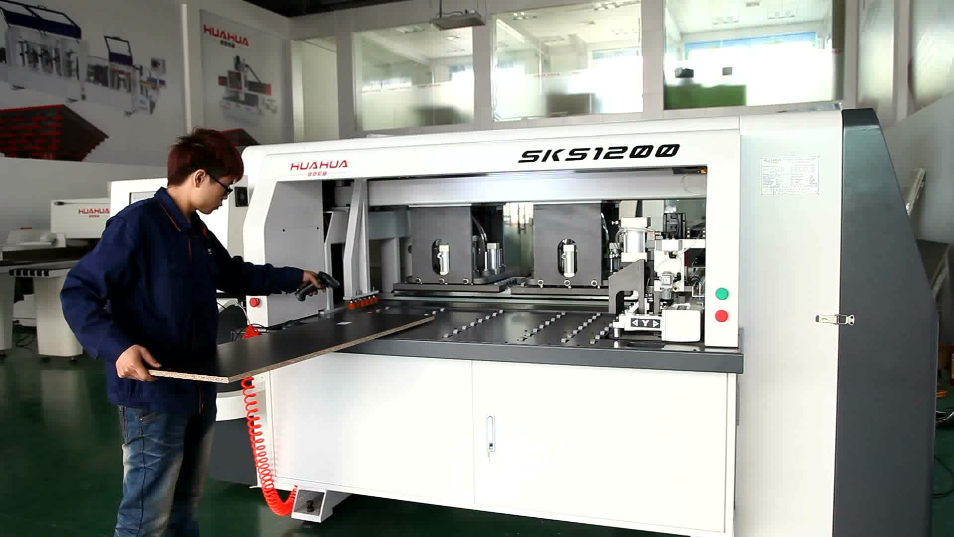 Guangdong fabriek supply automatische cnc hout boren machine voor houtbewerking