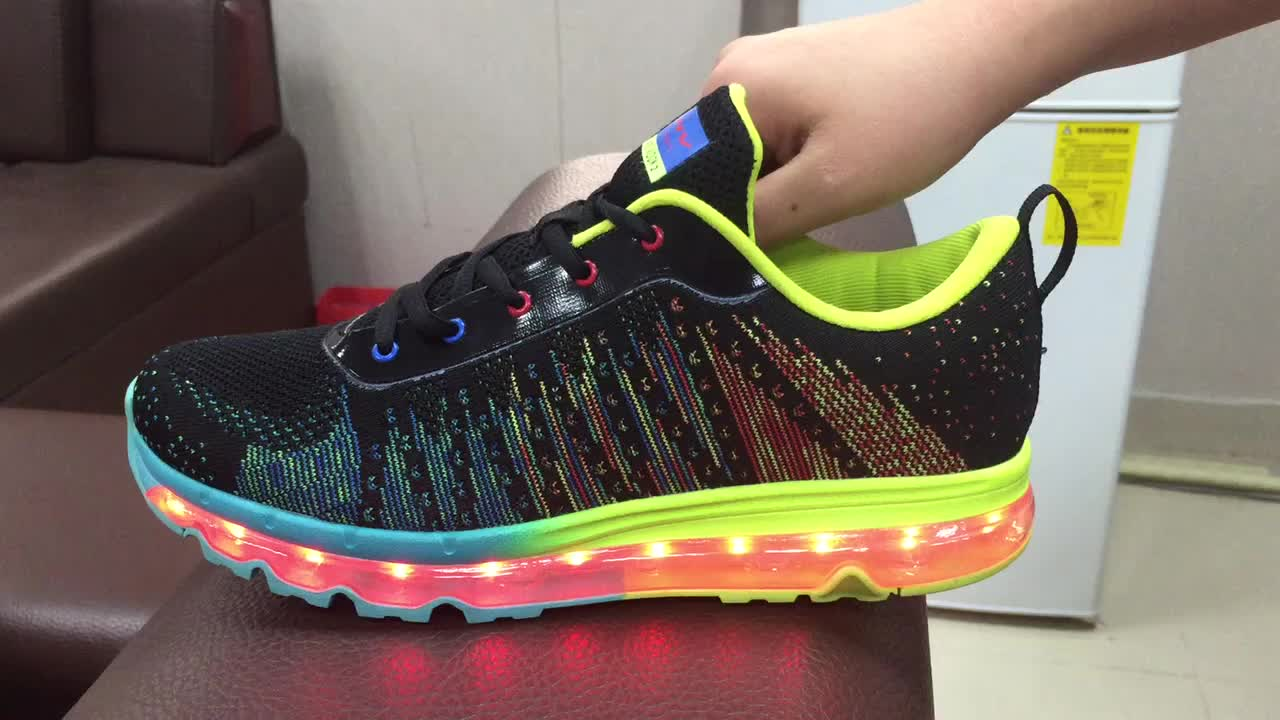 women charge shoes light usb shoes shoes sneaker up men LED xIzza7