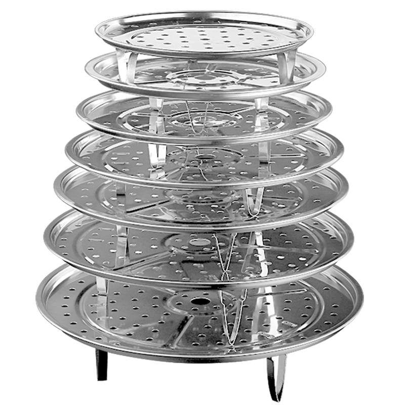 电煮锅蒸架不锈钢隔水蒸笼家用蒸盘高压锅蒸格篦子迷小蒸包蒸菜架