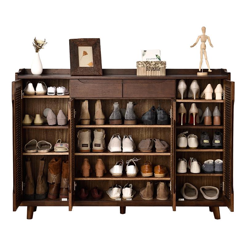 淘木轩实木鞋柜家用门口大容量鞋柜好用吗