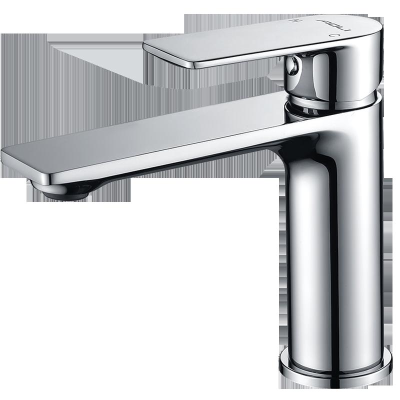 奥利卫生间洗脸盆台下盆水龙头冷热单把单孔冷热水面盆龙头6688