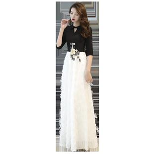 氣質晚禮服裙女2020新款宴會年會主持人名媛聚會高貴優雅高端顯瘦