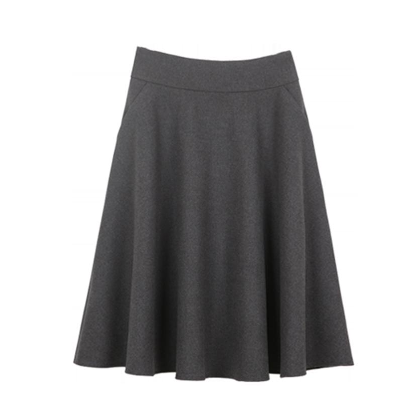 秋季伞裙高腰摆裙半身裙