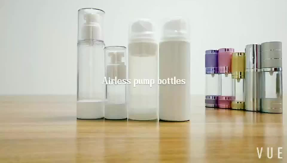 30ml 50ml 100ml 120ml 150ml cosmetic lotion pump airless bottle white  translucent plastic airless pump spray bottle