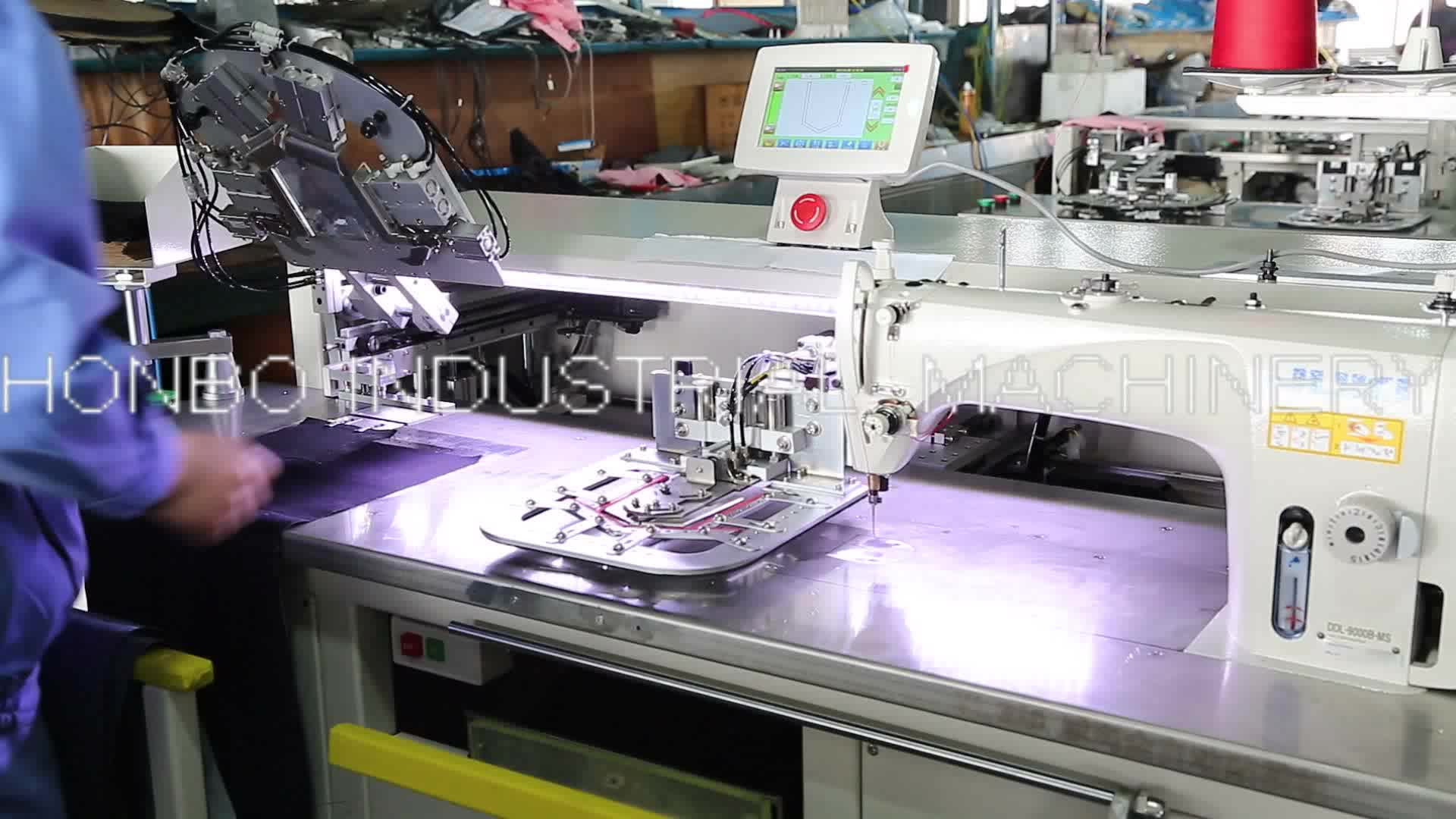 HB-166TD Programmable electronic pattern jeans pocket welting sewing machine industrial