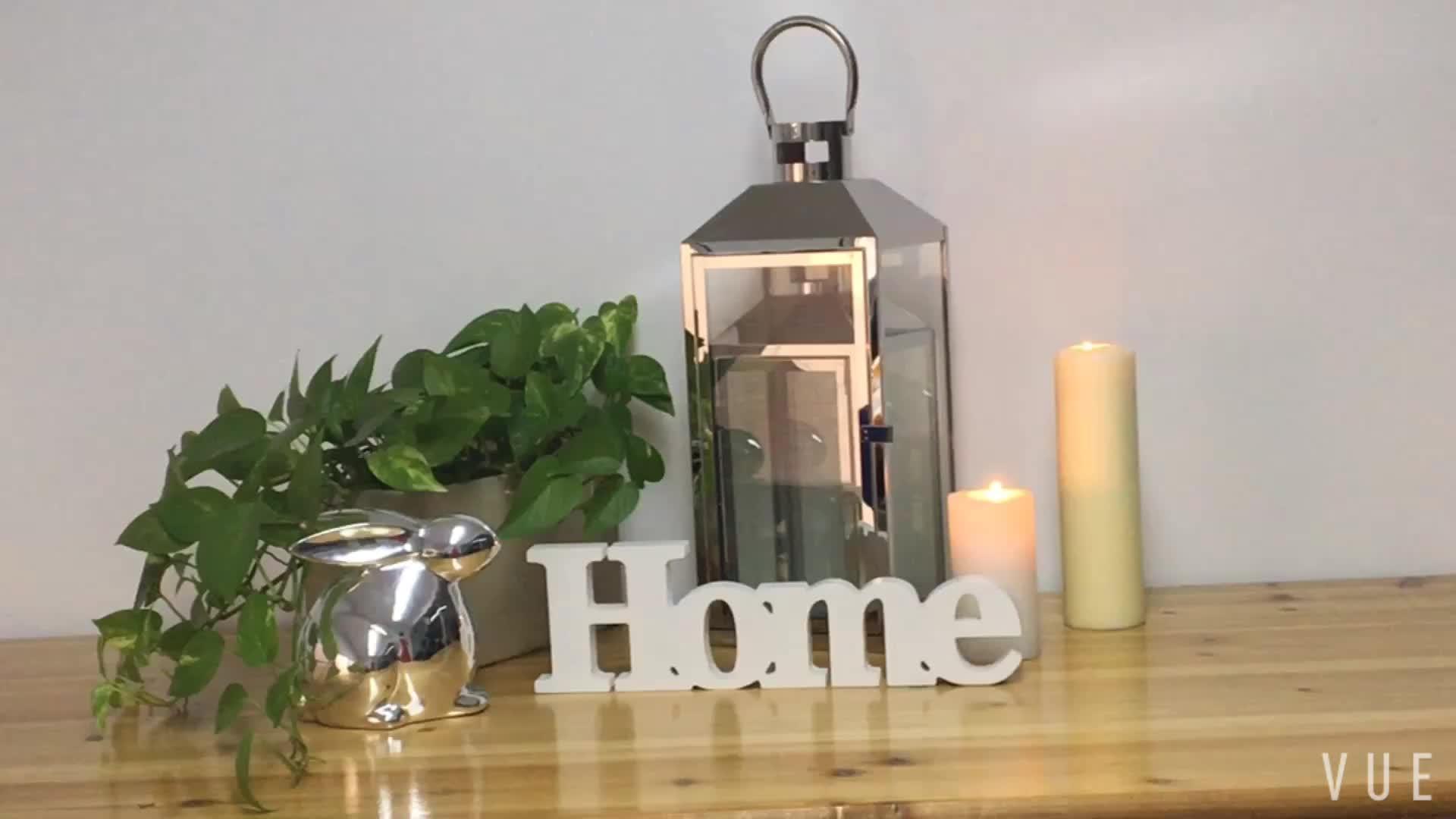 Indoor decor Metal candle lantern home decoration set of 3