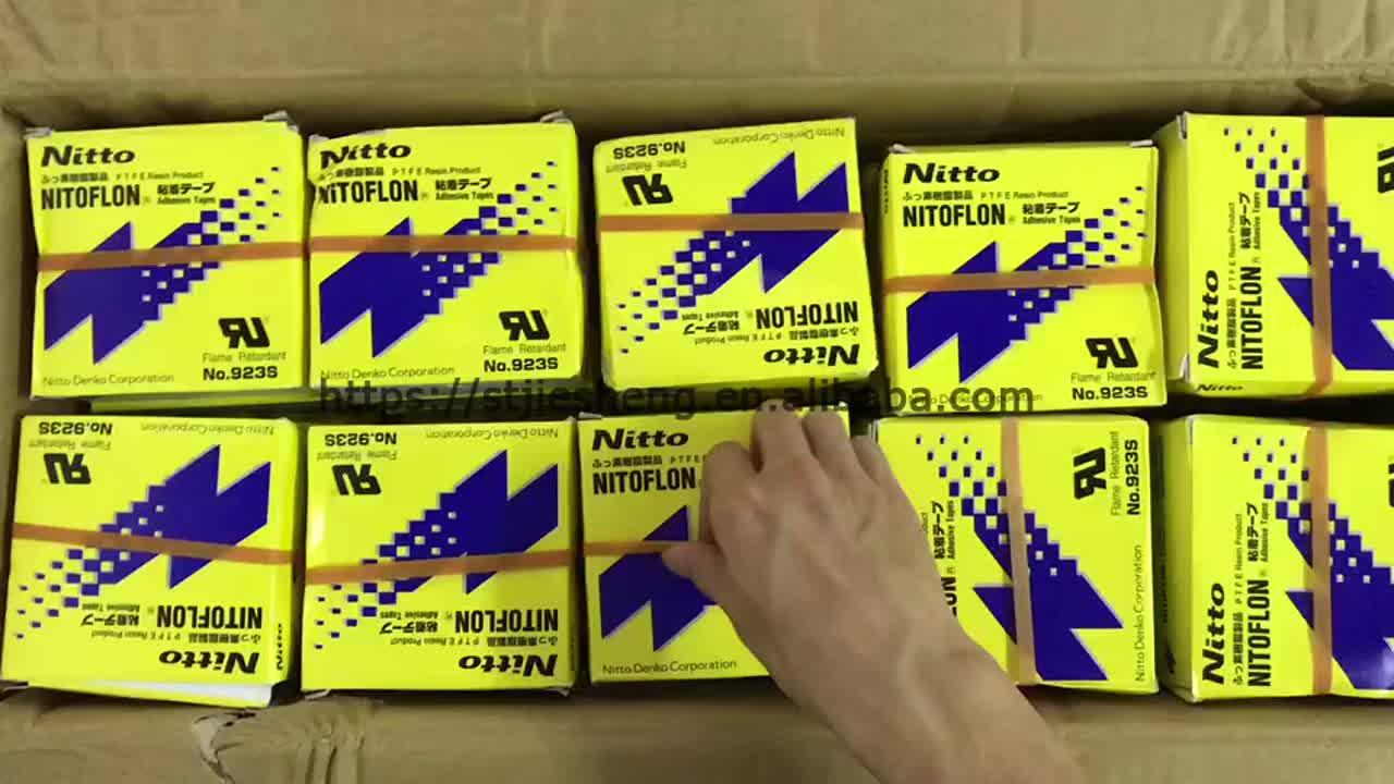 Original Japón Nitto Denko nitoflon cinta adhesiva 923 s PTFE resistencia de alta temperatura cinta resistente al calor cinta
