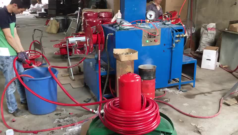 """China high quality 3/4inch 30m fixed Manual type fire hose reel with 1""""BSP inlet"""
