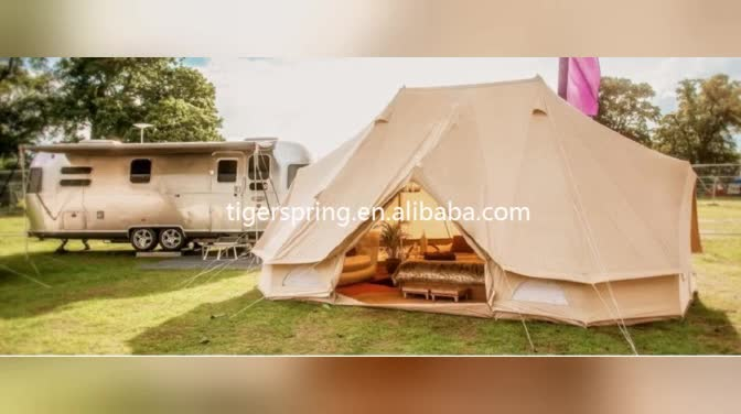 Waterproof Cotton Canvas Bell Tent Camping Family Tent