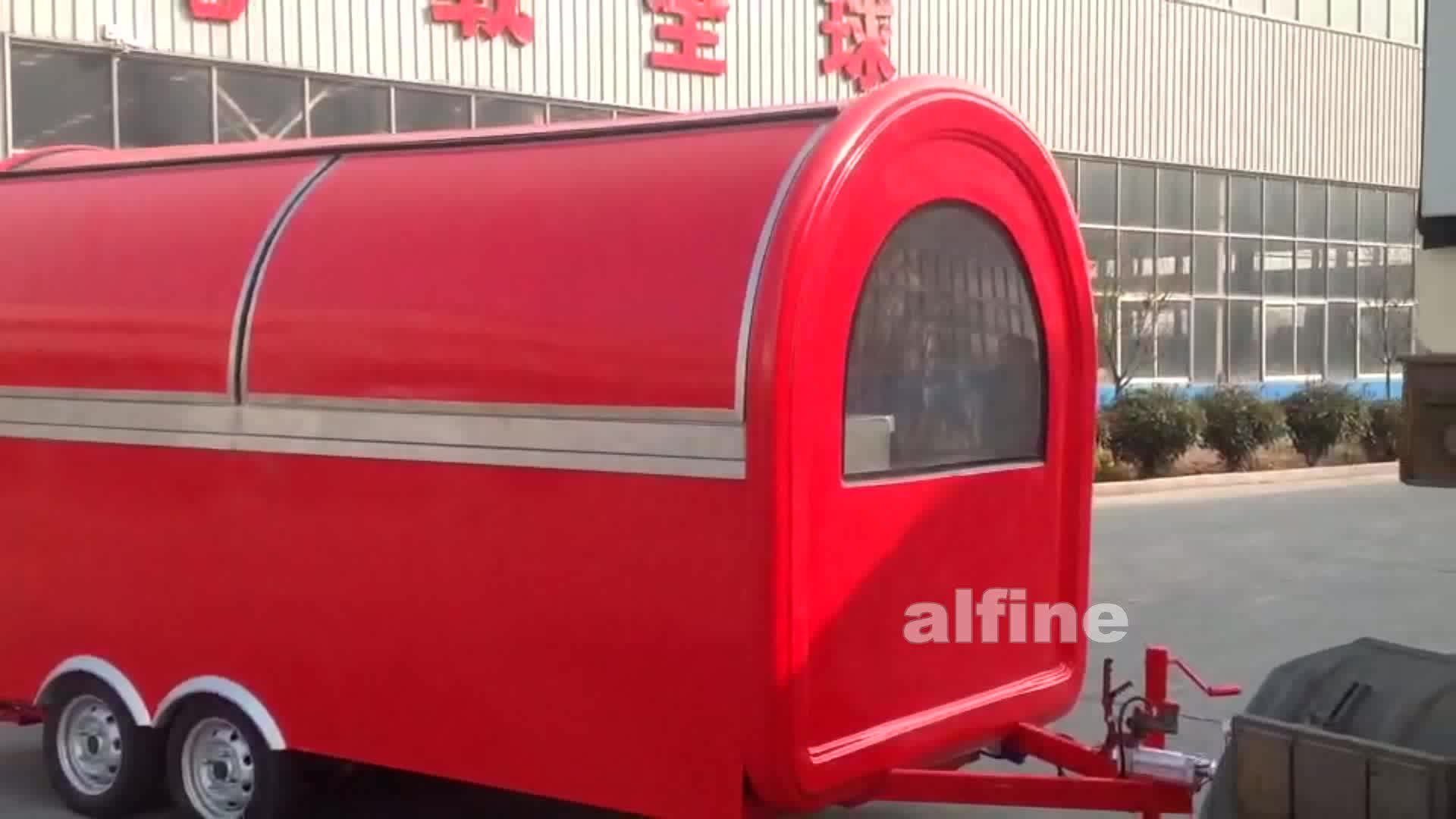 2018 Alibaba selling mobile  snack food trailer