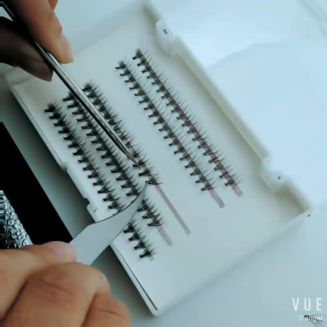 Wholesale 10D Russian Volume Lashes Custom Eyelash Packaging Own Brand Eyelashes