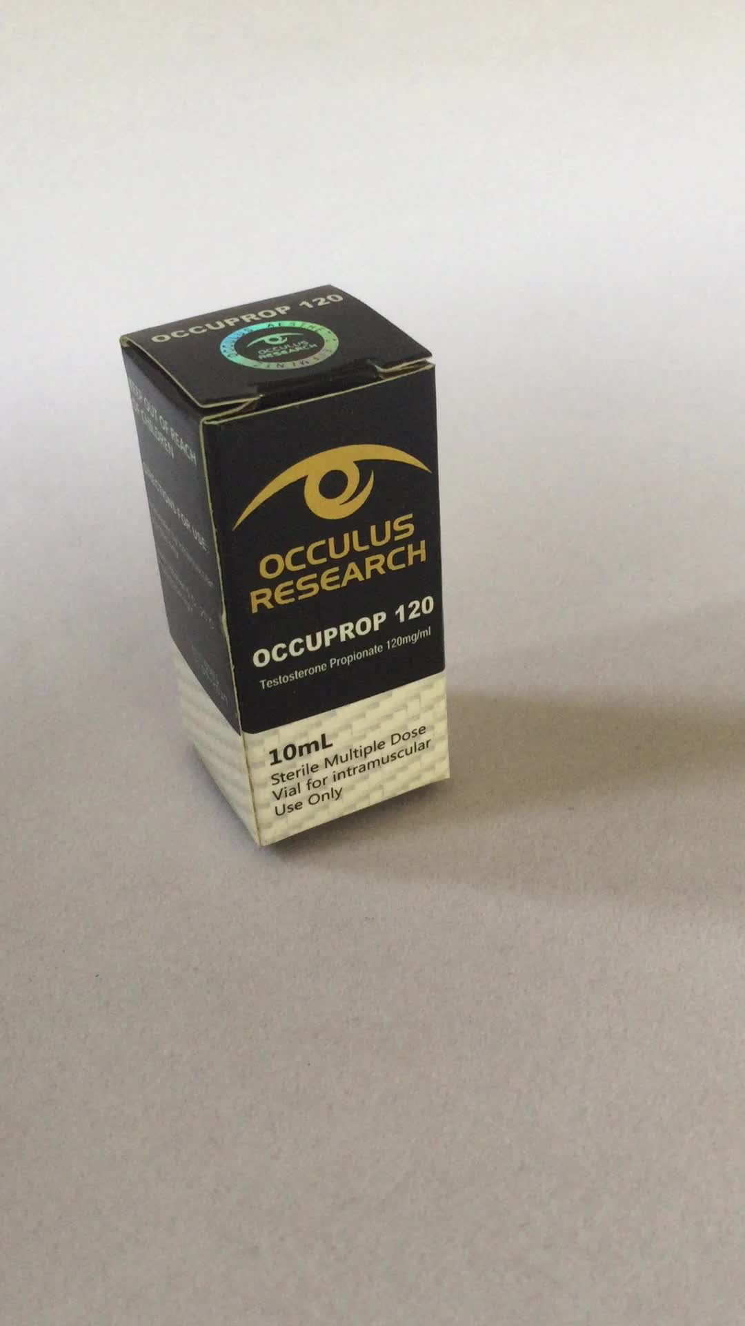 Custom hologram laser paper packaging steroids 10ml vials box