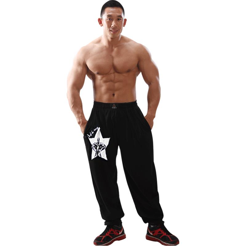 春秋运动健身男士长裤健美花裤健身房器械训练弹力女士宽松跑步