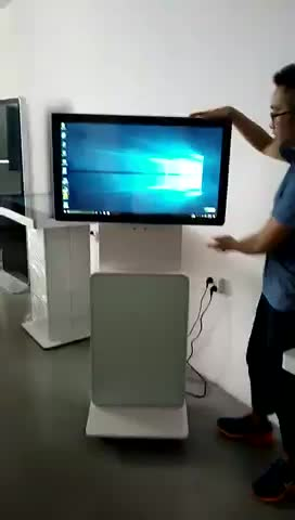 32 inch chinese hot sale floor stand rotated player with windows system
