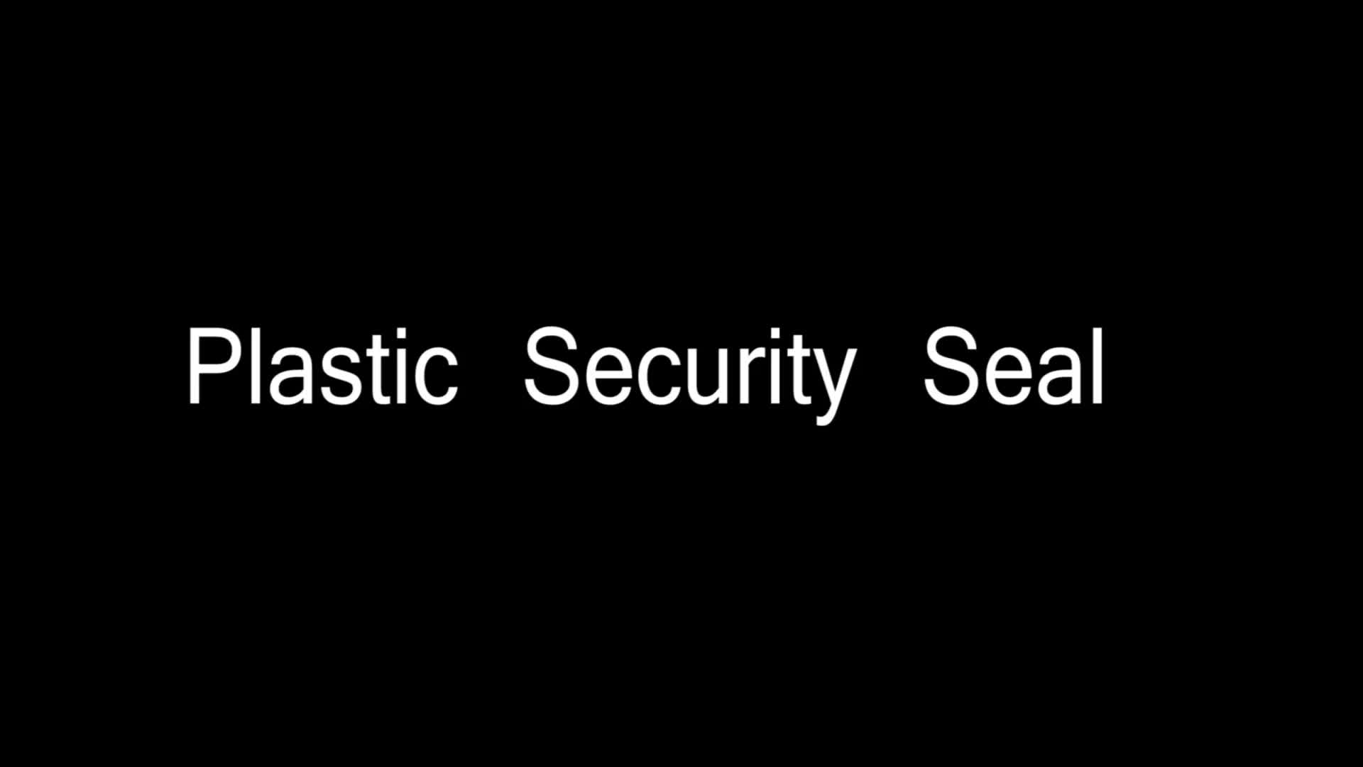 china plastic security seals plastic security seal with barcode