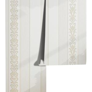 米素欧式竖条纹卧室3d背景墙壁纸