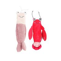 两只福狸宠物电动玩具扭动皮皮虾龙虾狗狗陪伴玩具猫咪捕捉猫玩具
