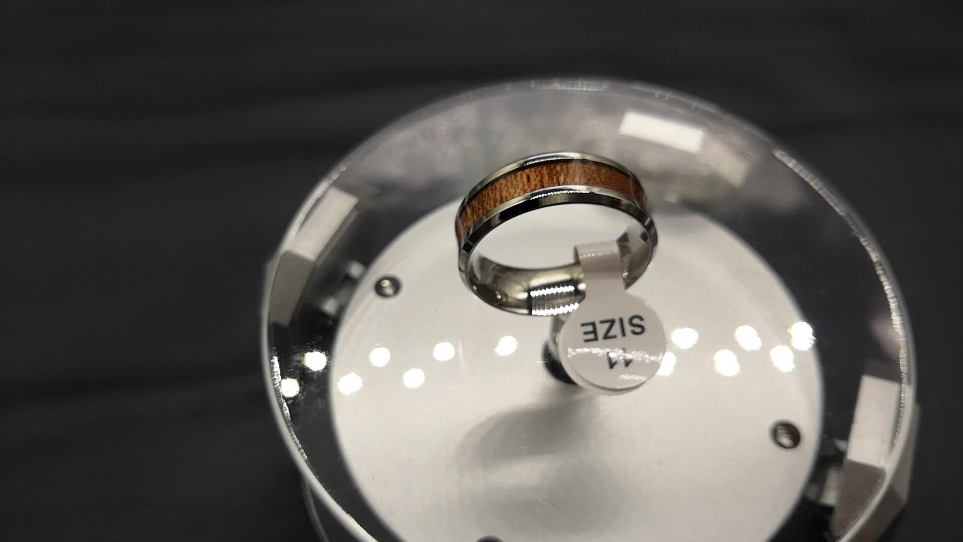 2019 Trend Stainless Steel Jewelry inlay Wood Rings Woman Man Fashion Accessories Ring acero inoxidable anillos de