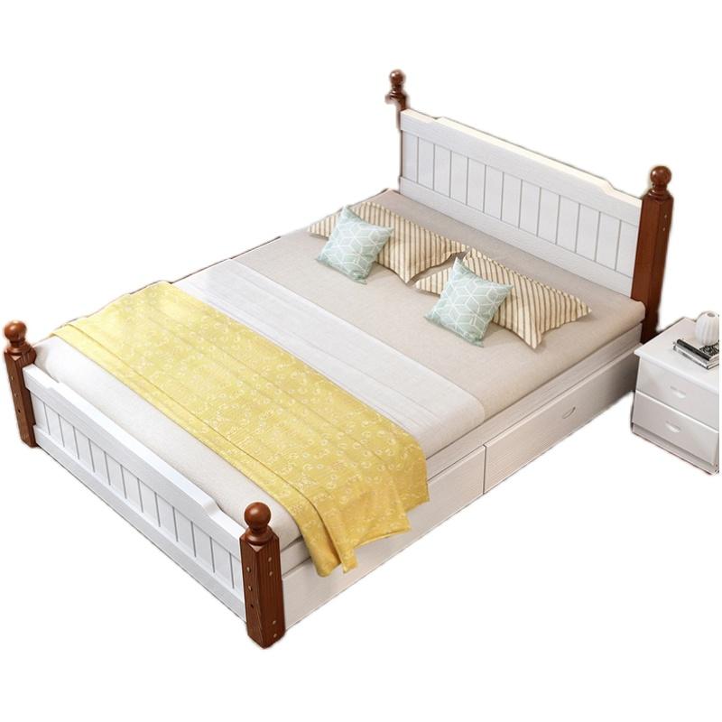 实木板现代简约1.8双人床单人床架好不好