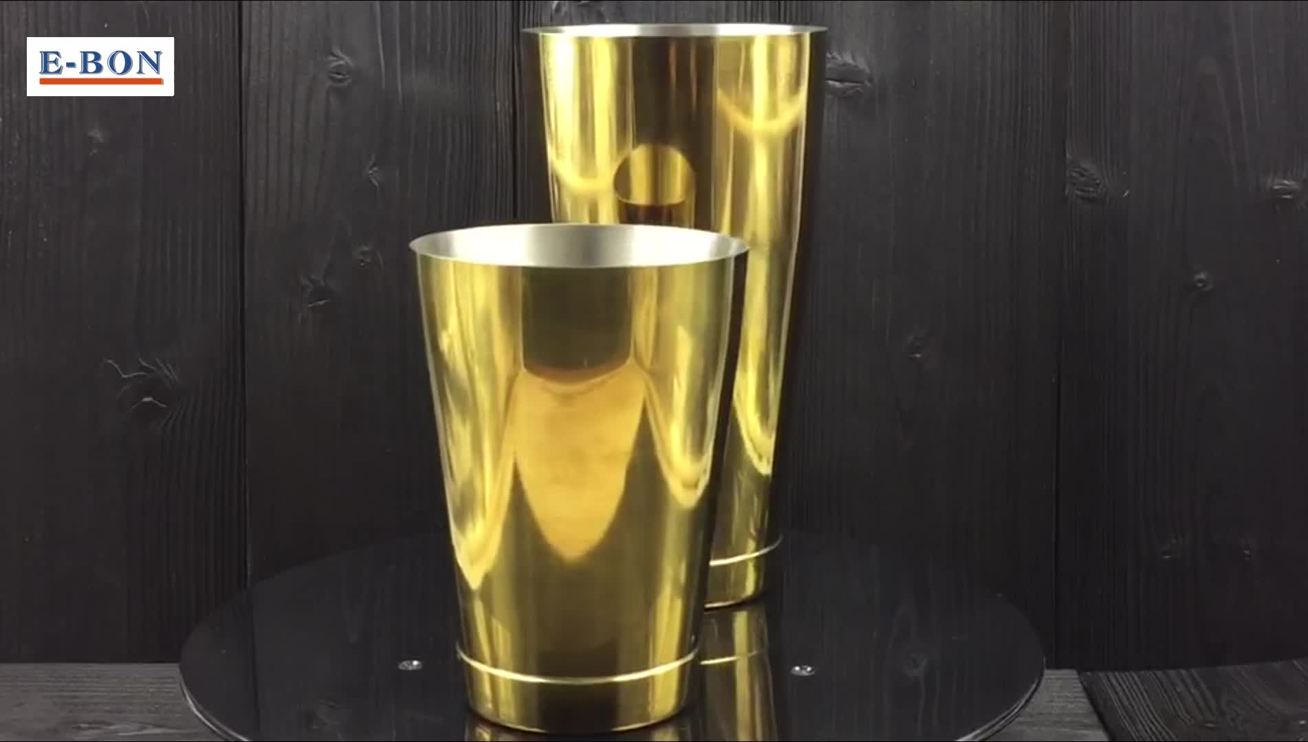 FDA AQpproved Stainless Steel Copper Gold Boston Cocktail Shaker