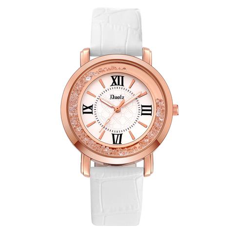 包邮多伦兹流动水钻女表韩国时尚韩版潮流女学生皮带防水石英手表