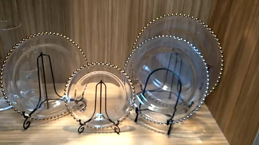 Wedding party transparent bead chargers plates