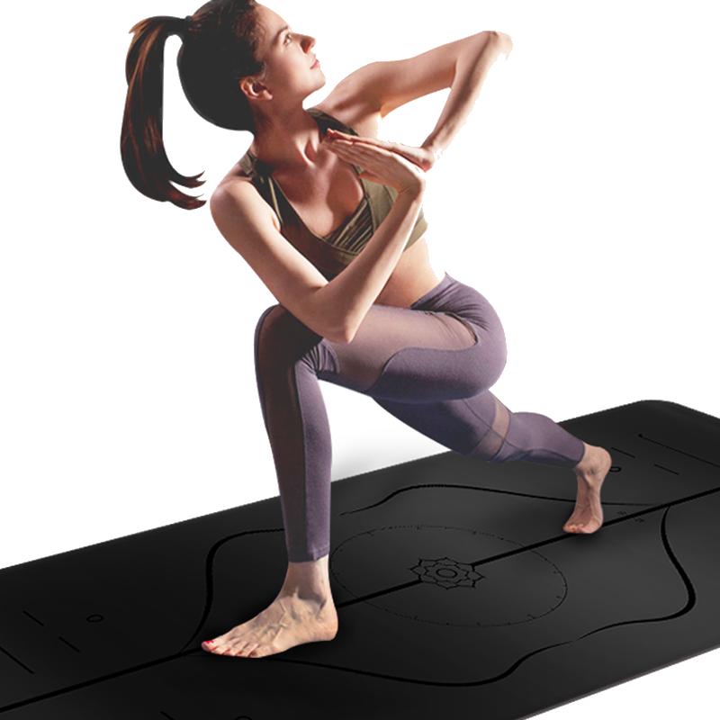 专业PU天然橡胶瑜伽垫定制logo初学者防滑健身女瑜输珈馆批发专用