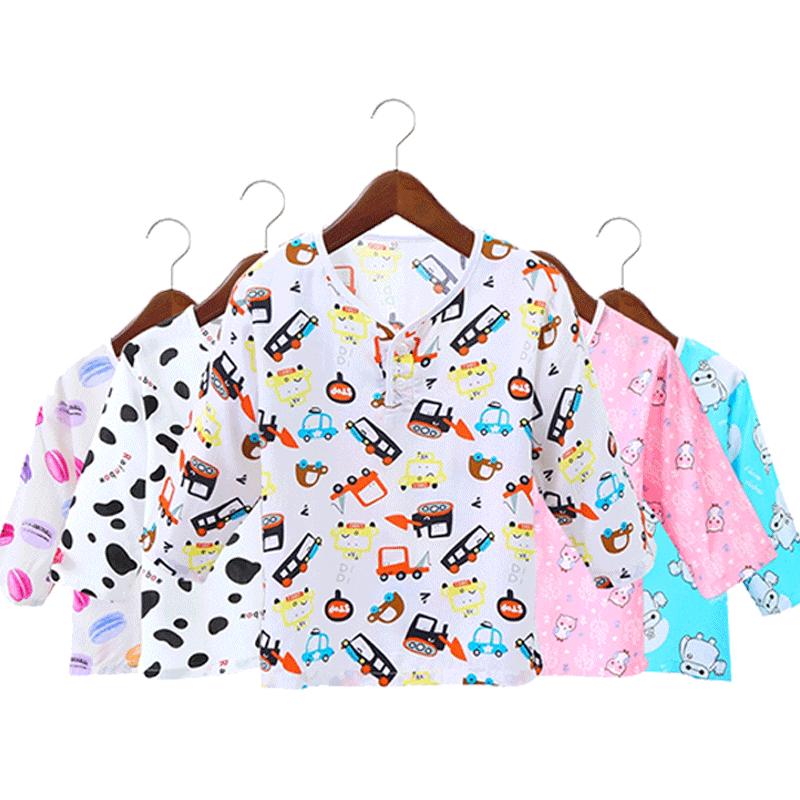 夏季男童中大童棉绸套装绵绸睡衣