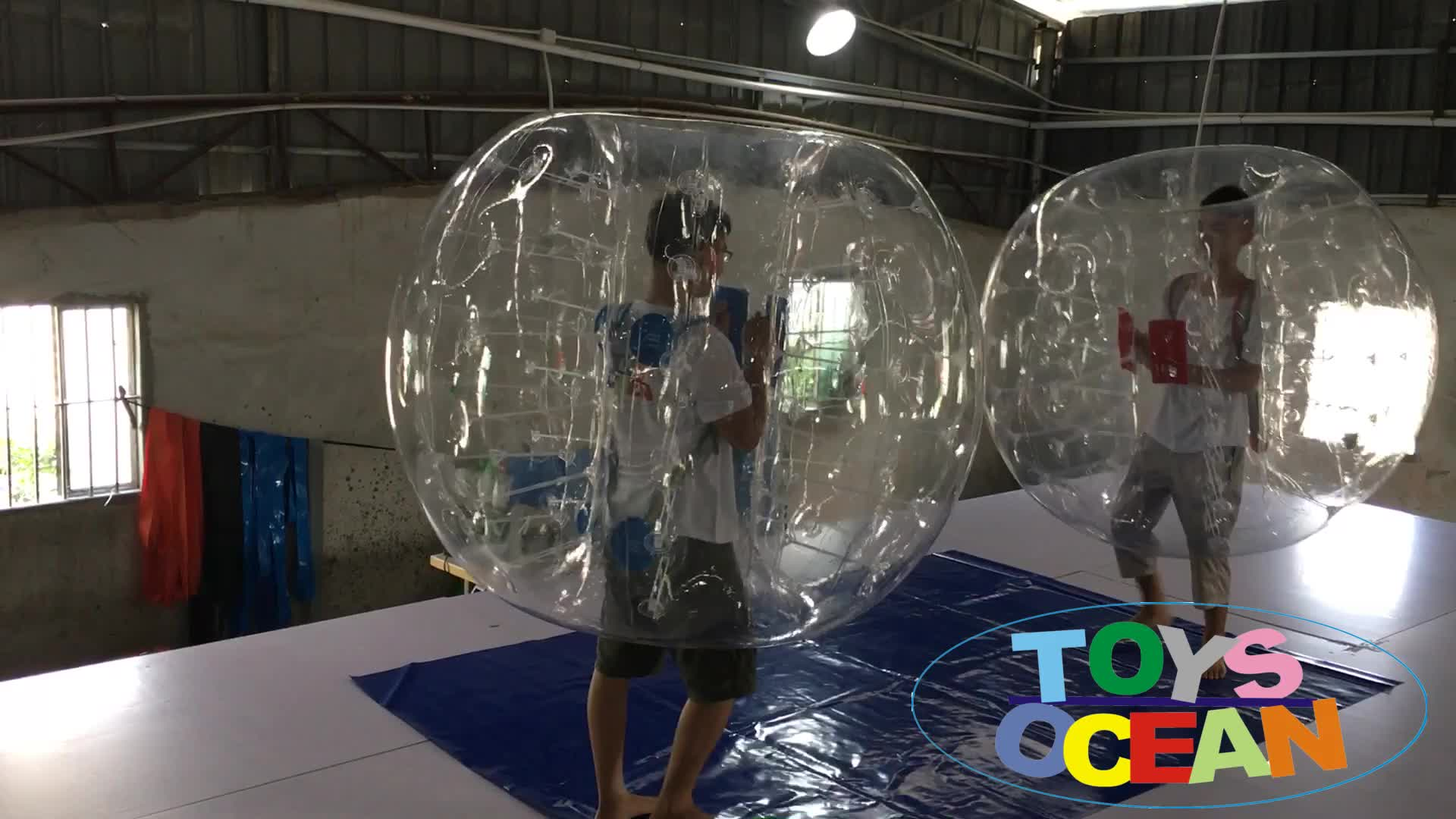 clear inflatable human body belly bumper ball 1mm PVC