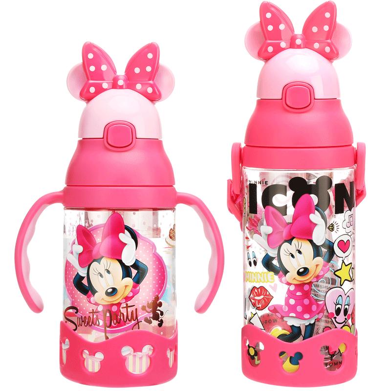 迪士尼带吸管幼儿园宝宝喝水杯子