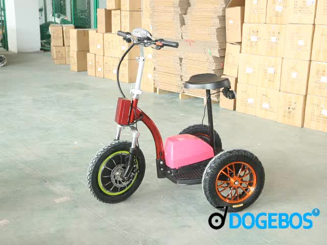 life04 22AH roadpet ginger mypet zappy three wheel electric tricycle scooter with front suspension